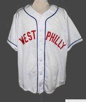 Billig West Philly Fresh Prince Baseball Jersey 1 Full Stickerei Herren genäht Jerseys Shirts Größe S-XXXL Schneller Versand