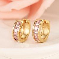 Clip-on & Screw Back Gold Zircon Stone Crystal Ear Earrings Trendy Elegant Women Wedding Bridal Party Jewelry Earring Girls Charm Gift