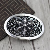 s925 sterling silver belt button personality domineering classic hip hop punk style cross hexagram anchors modeling gift