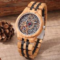 Relojes de pulsera Relojes de madera Hombres Olive Wood Pattern Correa de bambú Reloj de cuarzo Naturaleza Deporte creativo Reloj de moda para regalos masculinos
