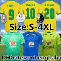 البرازيل G.Jesus Richarlison Soccer Jersey Vinicius JR 2021 22 Brasil Marquinhos Mailleots De Foot Gabi Casemiro E.Ribeiro Football Shirt Size S-4XL
