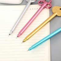 5Pcs Creative Retro Key Shape Gel Pen Student Writing Stationery Office Supplies 0.5mm Full Needle Tube Tip is Not Easy to Leak