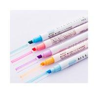 Öğrenciler Kullanın 12 Renkli Çift Kafa Vurgulayıcı Kalem Hesap Günlüğü Dekorasyon Pastel Renk Işaretleyici Not Pen Kawaii Okulu Jllaye