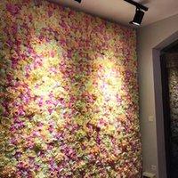 الزهور الزهور أكاليل محاكاة زهرة صف خلفية الزفاف جدار مول نافذة الديكور الاصطناعي