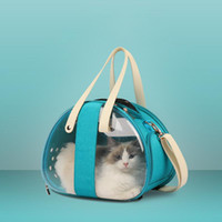 Paquete de gato plegable transparente Mochila para mascotas Dog Cat Dog Universal Travel Out Carrier bolsa paquete Transparente transpirable