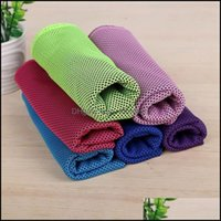 Textiles Home & Garden90*30Cm Cold Towel Travel Quick-Dry Beach Towels Microfiber For Yoga Cam Golf Football Outdoor Sports Drop Delivery 20