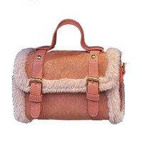 Evening Bags Faux Fur Shoulder For Women 2021 Winter Handbags Female Vintage Style Crossbody Purses Lady Fashion Soft Messenger Flap