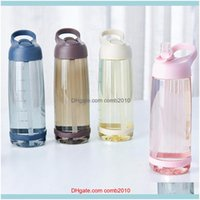 Drinkware Kitchen, Dining Bar Home & Gardenoutdoor Water Bottle St Sports Bottles Eco-Friendly With Lid Hiking Camping Plastic Bpa 1000Ml 20