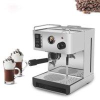 Itop máquina de café expresso semi-automático elétrico com cabo de filtro 15 bar máquina de café italiano máquina de café de aço inoxidável
