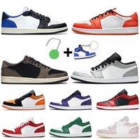 Nike Air Jordan Retro 1 Low White Off Travis Scott Women Mens Jumpman 1 1s Basketball Shoes Chicago Flip Bred Paris Tropical Twist Trainers Sneakers