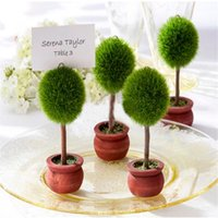 Party Decoration 24pcs lot Wedding Favor Topiary Tree Po And Place Card Holder Table