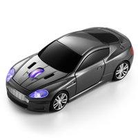 BKL carro 1200dpi caderno desktop computador sem fio mouse quatro cores céu azul prata prata cinza ratos vermelhos
