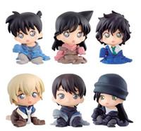 Anime 1/16 Масштаб Окрашенная рисунка Конана 6 шт. / Компл. Rachel Moore Anita Hailey Akai Shuuichi Furuya Rei Mini Action PVC Figure Toys Y0705