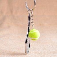 الرصاص مضرب تنس المفاتيح - لطيف الرياضة مصغرة سلسلة المفاتيح سيارة 6 اللون قلادة كيرينغ الرياضة مفتاح سلسلة من يحب الهدايا الرياضية 17248