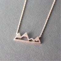 ج جذاب لذيذ ثلجي جبل فوجي الجبل القلائد الأعلى للنساء الرجال هدية جبل المختنق طوق الفولاذ المقاوم للصدأ