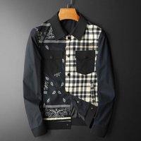Men's Jackets 2021 Autumn Winter Male Luxury Two Pockets Casual Mens Coats Fashion Slim Fit Plaid Printed Man Plus Size 4xl