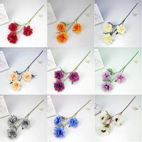 3 teste peonia seta artificiale di seta vintage peonia simulazione fiore 63 cm di lunghezza floreali falsi per matrimonio fai da te decorazione domestica OWA4239