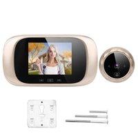 Maison Vidéo Interphone 2.8in TFT LCD Visionneuse de porte Visualisée Visionneuse IR Night Cyclic Stockage Caméra Sonnette Ding Ding Dong