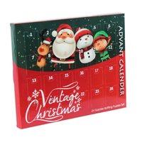 Navidad Adviento Cuenta regresiva Calendario 24 unids Metal Alambre Puzzle Juguete Santa Sonwman Cuenta regresiva Caja de sorpresa de cajas para niñas Regalos para niños G87CNQ5