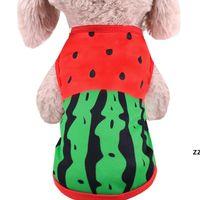 Cachorro do cão da melancia Roupa barato do cão para cães pequenos Chihuahua do verão Camisetas Roupa bonito do animal de estimação do traje do cachorrinho hwe8632