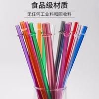 Palhas descartáveis 230 * 7mm criativo diy partido plástico bebendo palhas 9inch canudos reutilizáveis para tumblers altos podem ser personalizados 372 s2
