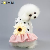 Dog Apparel Pet Clothes Beach Couples Summer Dress For Small Dogs Clothing Sunflower Skirt Vest Chihuahua Yorkie