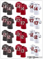 "Männer Tampa ""Bay"" Buccaneers ""Jersey 12 Tom Brady 45 Devin White 87 Rob Gronkowski 14 Chris Godwin 13 Mike Evans Football Trikots"