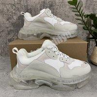 Zapatos casuales de las mujeres de los hombres de la mejor calidad Blanco Negro Air Cushion Triple S Low Hacer Botas de combinación antiguas Tamaño Deportivo EUR 36-43