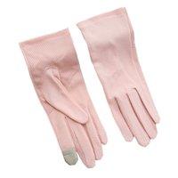 Yaz aylarında kadınlar için güneş koruma eldiven saf pamuk dokunmatik ekran ince nefes anti kayma kısa sürme eldivenleri ilkbahar ve sonbahar günleri