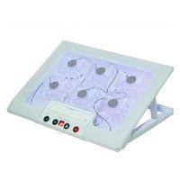 Ice Coarel Laptop Refriger Sei fan di raffreddamento e 2 porte USB PAD notebook stand con display LCD a luce per 13-16 pollici