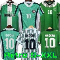 Nigéria Retro 1994 Home Away Jerseys de Futebol Kanu Okocha Finidi Nwogu Futbol Kit Futebol Vintage Camisa Clássica 1996 1998