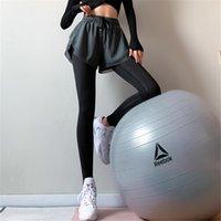Yuerlian Nahtlose Fittness 2-in-1-Legging Lycra Schnell trocken Atmungsaktive Frauen Sportstrümigungen Workout Bottoms Weibliche Frauen Yoga PA Q0126