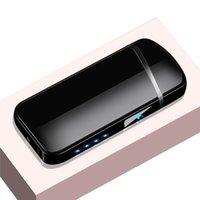 2021 Neue USB Winddichte Feuerzeug Wiederaufladbare Elektronische Feuerzeug Im Freien Winddicht Zündung Feuerzeug Arc Flammenlosen Plasma Geschenk