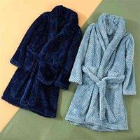 Autunno Inverno Bambini Sleepwear Robe Flanella Caldo Accappatoio per le ragazze 4-18 anni Adolescenti Adolescenti Pigiama dei bambini Boys 210910