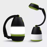 휴대용 랜턴 캠핑 라이트 다기능 LED USB 충전식 램프 야외 하이킹 홈 3 in1 테이블 책상 전원 은행