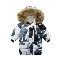Down Coat Toddler Boys Camouflage Fur Hooded Winter 2021 Baby Girls Children Cotton Jacket Kids Teenage Clothes 9 11 12 Overcoat
