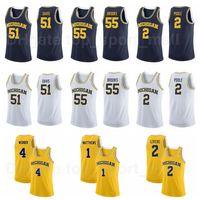 Basquete Michigan Wolverines College 10 Tim Hardoway Jr Jersey 3 Trey Burke 5 Jalen Rose 1 Charles Matthews 2 Poole University Top / High