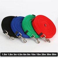 Dog Collars & Leashes Leash Long Obedience Recall Training Lead Pets Nylon For Collar Harness 1.5m 1.8m 3m 4.5m 6m 9m 10m 15m 20m 30m 50m