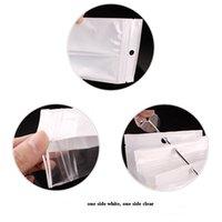 Cancella Bianco Plastica Poly Poly OPP Borsa da imballaggio Zip Zip Zipper Retail Bag Borsa Gioielli Cibo PVC Plastica Sacchetto di plastica Molte dimensioni