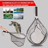 Black Aley Aley Nets Pesca Tackle Pesca Net Net Portable Pescado Línea Dip Jaula Detalle Duradero Durable