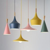 Chandeliers Modern Bar Cafe Restaurant Dining Room Nordic Style Personality Creative 3-Heads Macaron Series Hanging Luminaire