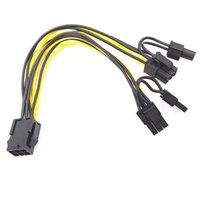 Настроить 6pin до двойного 8pin 6pin до 6 + 2 видеокарт кабеля для шахтера и компьютера