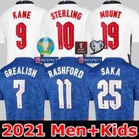 إنجلترا يورو 2021 لكرة القدم الفانيلة كين مجموعات الجنيه الجبل راشفورد جبل فودن سانشو رايس هندرسون فيليبس يصرخ ساكا الأعلى لكرة القدم قميص الرجال الاطفال عدة مجموعات موحدة