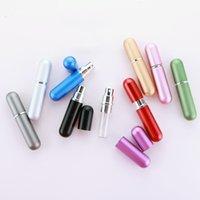 5ml Fashion Profume Spruzzatore riutilizzabile Bottiglia di vetro Vuoto Contenitore cosmetico Viaggio Viaggio Alluminio Profumo Spruzzatore XY280