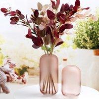 점진적인 변화 서리가 낀 유리 꽃병 장식품 간단한 거실 꽃 건조 배열 워터 테이블