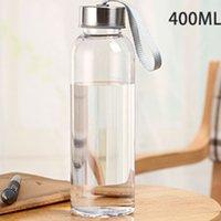 400 ملليلتر الرياضة في الهواء الطلق زجاجات المياه المحمولة شفافة جولة السفر مانعة للتسرب تحمل ل زجاجة المياه studen drinkware dhl