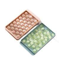 Baking Moulds Ice Cube Tray Round Cubes Plastic Maker Mold With Lids For Cream Whiskey Drink Party Cold Cocktail