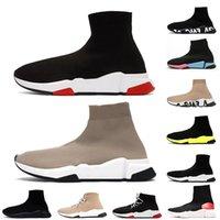 2021 أحدث نساء رجل فاخر مصمم جورب أحذية بالين كتابات وحيد عارضة الأحذية الثلاثي أبيض أسود وردي الرياضة رياضة الدانتيل يصل البحرية الأزرق الجوارب الأحذية قبالة المدربين