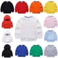 Inpepnow Santuario de niños sólidos para niños 100% algodón con capucha para niños niñas de bebé ropa camisa de sudor poleron 210901