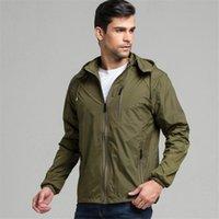 Men's Jackets Spring Men Clothing Sportswear Fashion Thin Windbreaker Zipper Coats Outwear Hooded Jacket Jaqueta Masculino,5103
